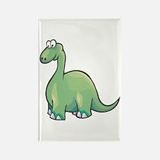 Cute Brontosaurus Rectangle Magnet