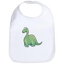 Cute Brontosaurus Bib