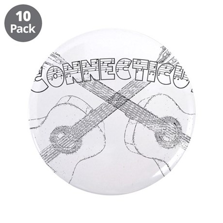 "Connecticut Guitars 3.5"" Button (10 pack)"