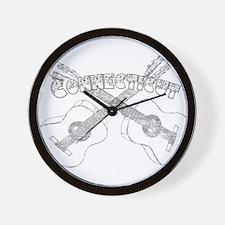 Connecticut Guitars Wall Clock