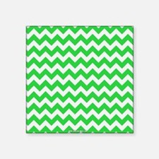 Chevron Green Sticker