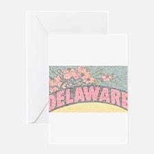 Vintage Delaware Flowers Greeting Card