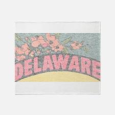 Vintage Delaware Flowers Throw Blanket