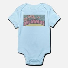 Vintage Delaware Flowers Body Suit