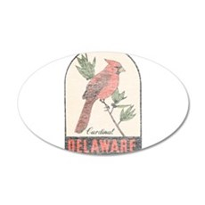 Vintage Delaware Cardinal Wall Decal