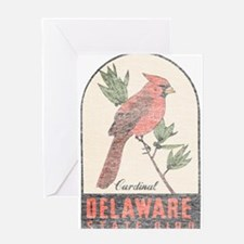 Vintage Delaware Cardinal Greeting Card