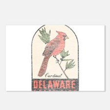 Vintage Delaware Cardinal Postcards (Package of 8)