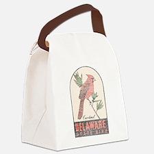 Vintage Delaware Cardinal Canvas Lunch Bag