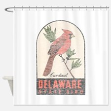 Vintage Delaware Cardinal Shower Curtain