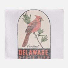 Vintage Delaware Cardinal Throw Blanket