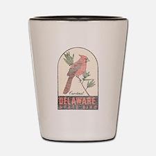 Vintage Delaware Cardinal Shot Glass