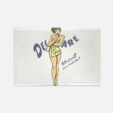 Vintage Delaware Pinup Rectangle Magnet