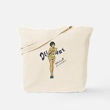 Vintage Delaware Pinup Tote Bag