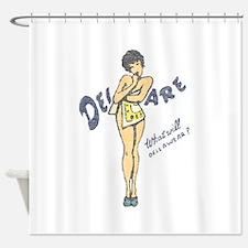 Vintage Delaware Pinup Shower Curtain