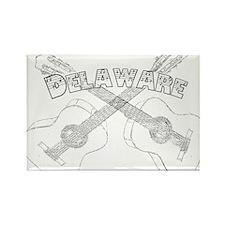 Vintage Delaware Guitars Rectangle Magnet