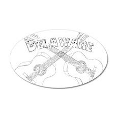 Vintage Delaware Guitars Wall Decal
