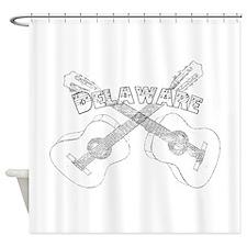 Vintage Delaware Guitars Shower Curtain