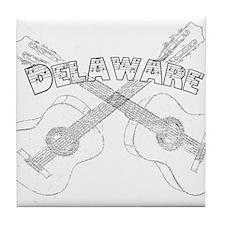 Vintage Delaware Guitars Tile Coaster