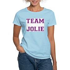 Team Jolie Purple Women's Pink T-Shirt