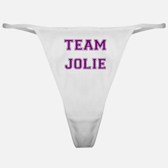 Team Jolie Purple Classic Thong