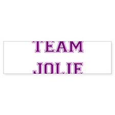 Team Jolie Purple Bumper Bumper Sticker