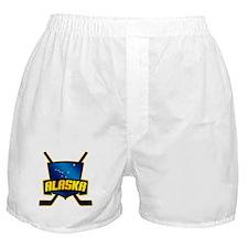 Alaska Hockey Flag Logo Boxer Shorts