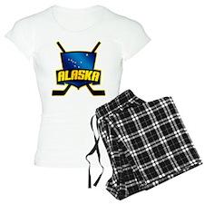 Alaska Hockey Flag Logo Pajamas
