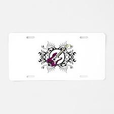 Purple Bass Black Floral Circle Design Aluminum Li