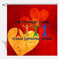 Women Supporting Women Shower Curtain
