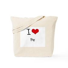 I Love Pe Tote Bag