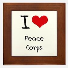 I Love Peace Corps Framed Tile