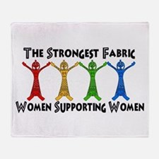 Women Supporting Women Throw Blanket
