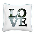 Love Square Canvas Pillow