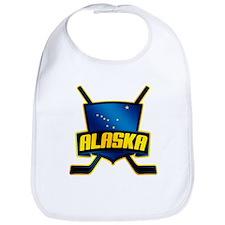 Alaska Hockey Flag Logo Bib