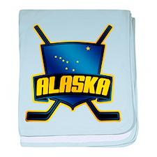 Alaska Hockey Flag Logo baby blanket