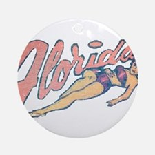 Vintage Florida Babe Ornament (Round)