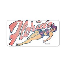 Vintage Florida Babe Aluminum License Plate