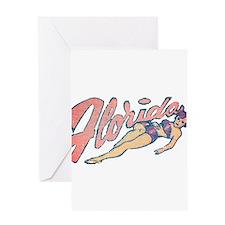 Vintage Florida Babe Greeting Card
