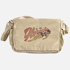 Vintage Florida Babe Messenger Bag