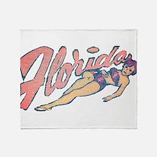 Vintage Florida Babe Throw Blanket