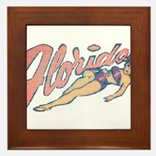 Vintage Florida Babe Framed Tile