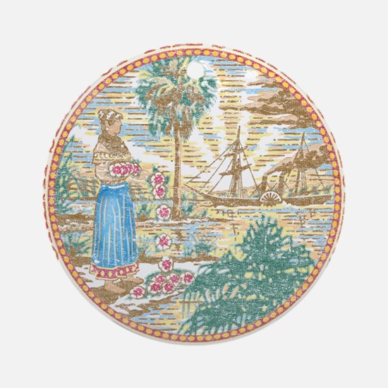 Vintage Florida Seal Ornament (Round)