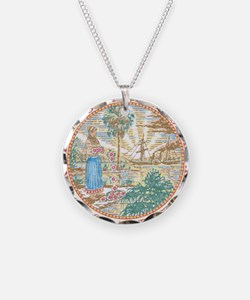 Vintage Florida Seal Necklace