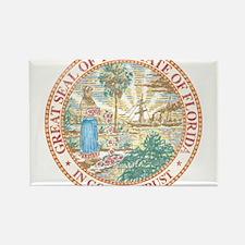 Vintage Florida Seal Rectangle Magnet