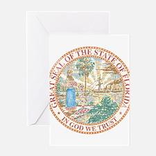 Vintage Florida Seal Greeting Card