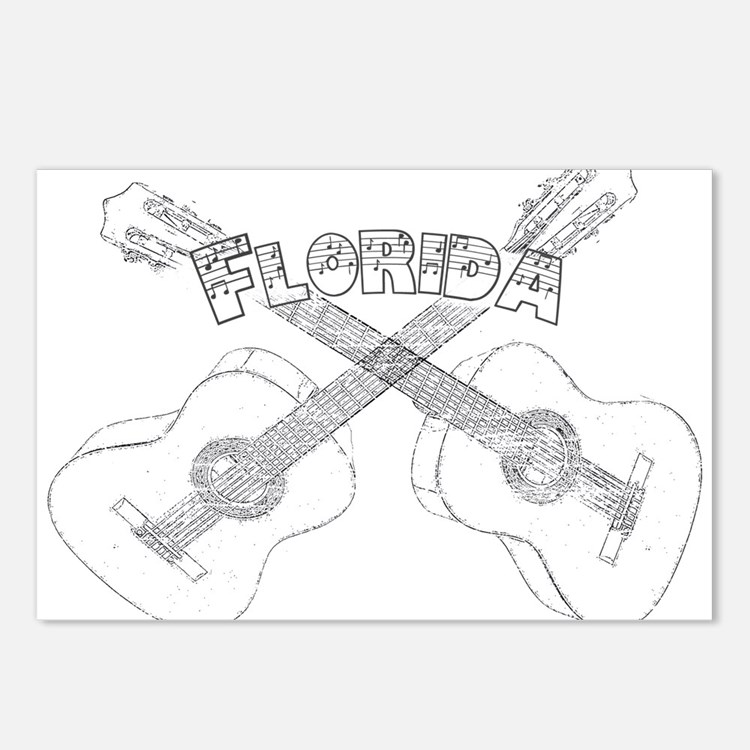 Florida Guitars Postcards (Package of 8)