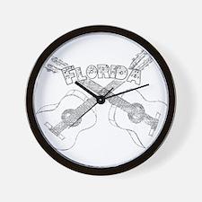 Florida Guitars Wall Clock