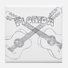 Florida Guitars Tile Coaster