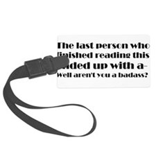 The last person who finished reading this Luggage Tag
