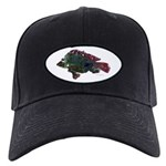 Bright Fish Print Baseball Hat